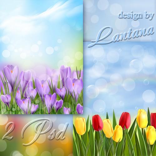 PSD исходники - Как хороши весенние цветы