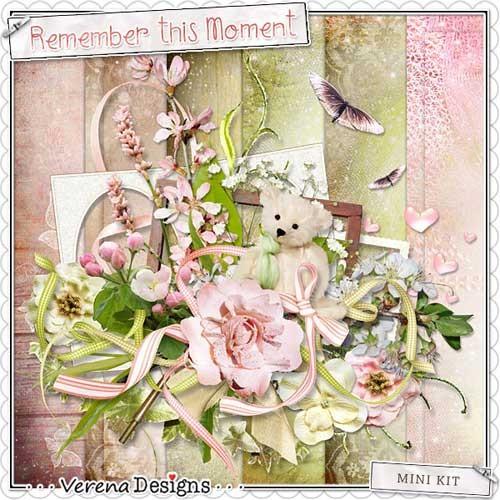 Весенний цветочный скрап-набор - Помни этот момент