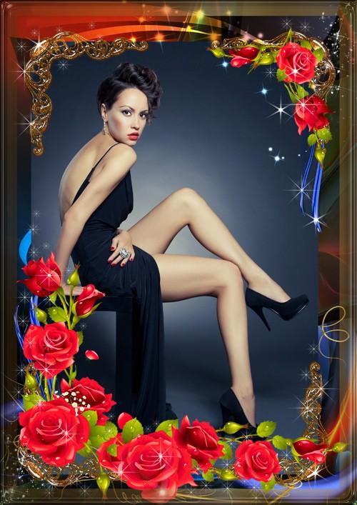 Фоторамка Красные розы