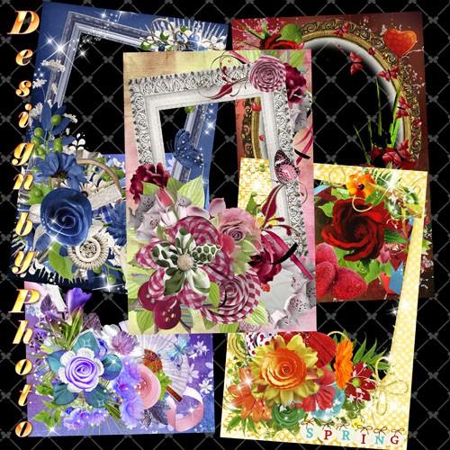 Набор рамок для фото - Цветочные россыпи