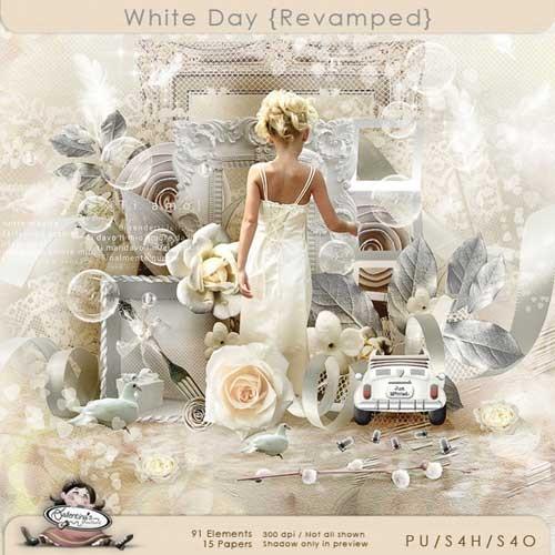 Шикарный свадебный скрап-набор - Светлый день