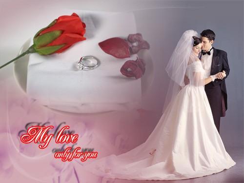 PSD исходник для влюбленных - My love only for you