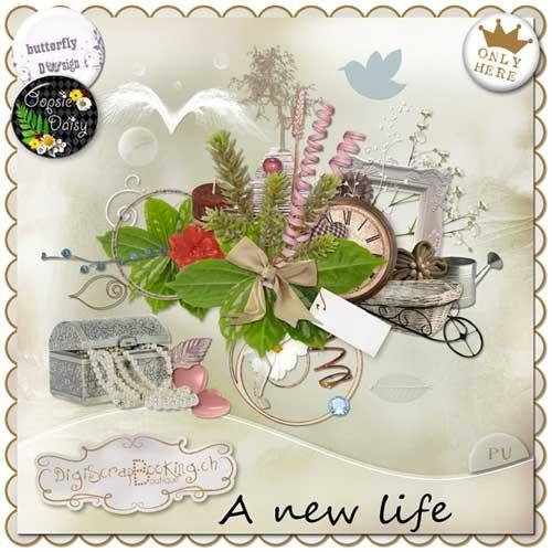 Цветочный скрап-набор - Новая жизнь