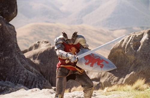 Шаблон для фотомонтажа - храбрый рыцарь