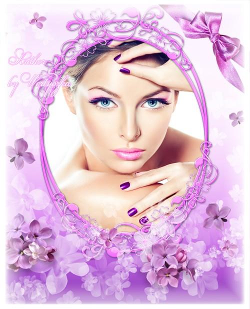 Рамка для фотошопа - Сирень, лиловые цветы