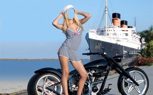 Шаблон для фотошопа - очаровательная морячка
