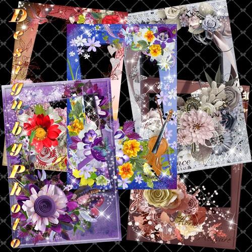 Набор рамок для фото - Цветочные фантазии