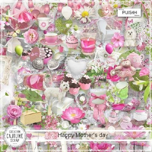 Цветочный скрап-набор - Счастливый мамин день