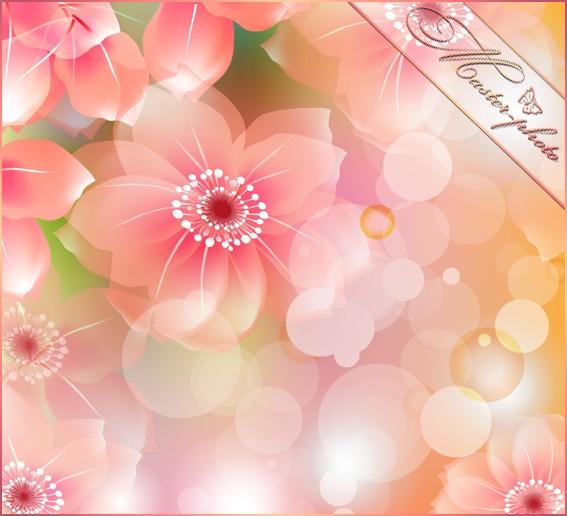 Многослойный PSD исходник для photoshop - Магия весны