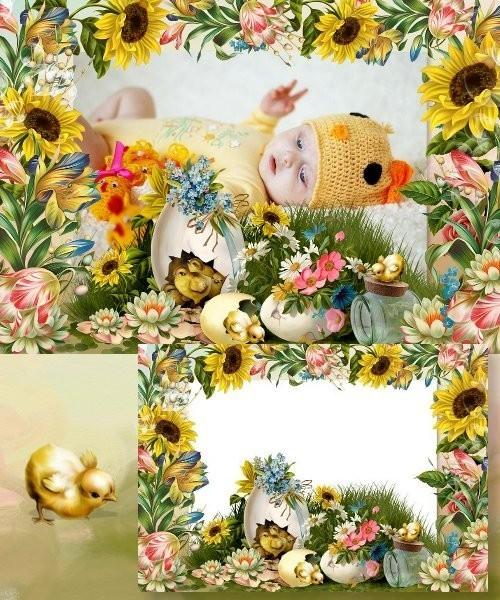 Пасхальная рамочка для Photoshop - Аромат  весны