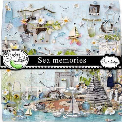 Морской скрап-набор - Морские воспоминания