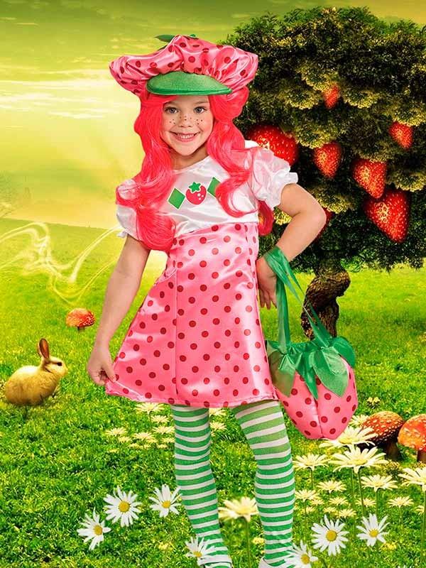 Детский фотошаблон - Весёлый клубничный костюмчик