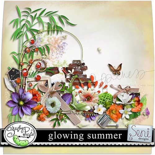 Цветочный скрап-набор - Жаркое лето