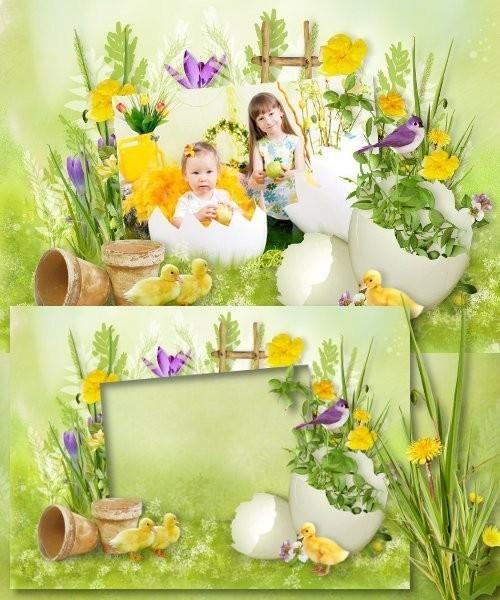 Весенняя рамка для Photoshop - Весенний бриз