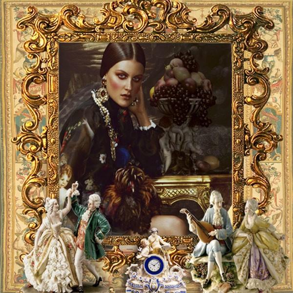 Рамка женская - Галантный век