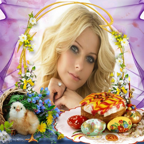 Рамка женская - Главный праздник - Пасха