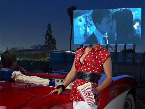 Попкорн, парень и кино - шаблон для девушек