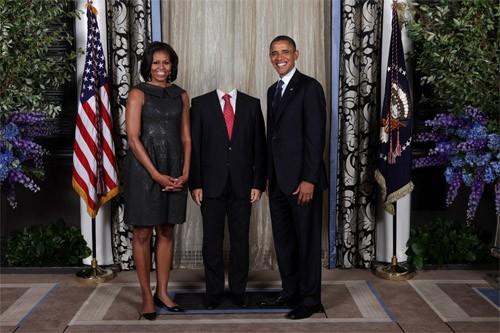 Шаблон psd - встреча с американским президентом