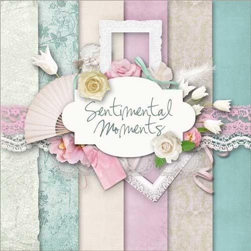 Цветочный скрап-набор - Сентиментальные моменты