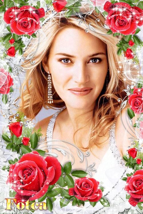 Цветочная рамка для фото - Ты, роза, цветок самый лучший