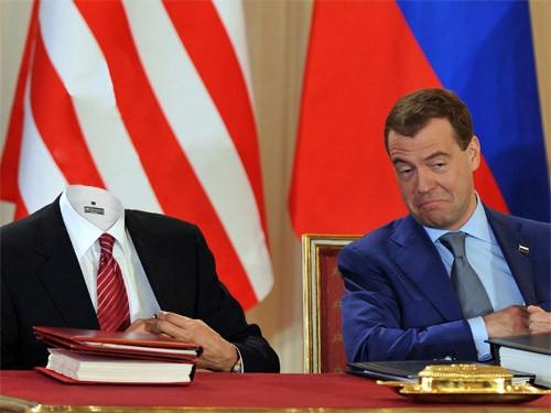Шаблон для фотошопа - Заключение договора с российским президентом