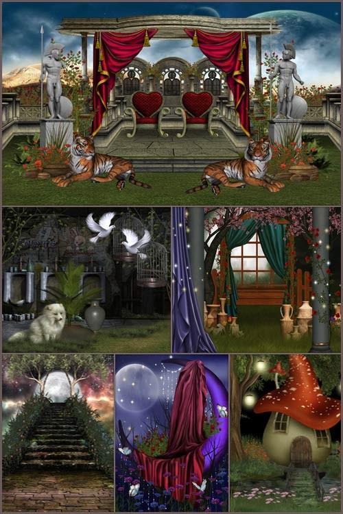 Фоны для фотошопа - Волшебная фантазия 6