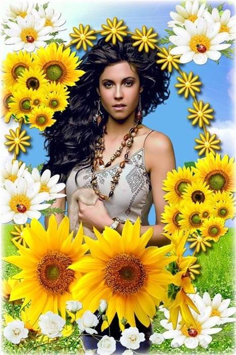 Красивая цветочная рамка - Весна пришла