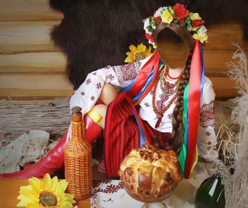 Шаблон для фотошоп - Костюм украинки