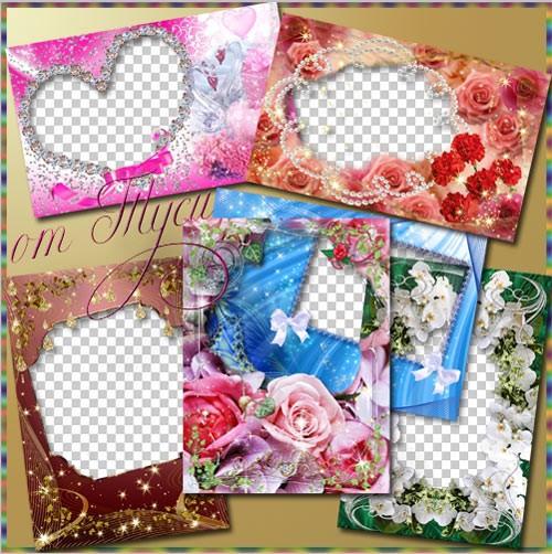 Коллекция рамок – Цветы нам дарят настроение - 2
