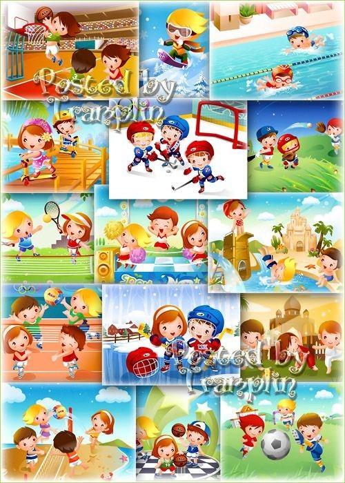 Детские Фоны -1 для Вашего творчества – Детские спортивные игры