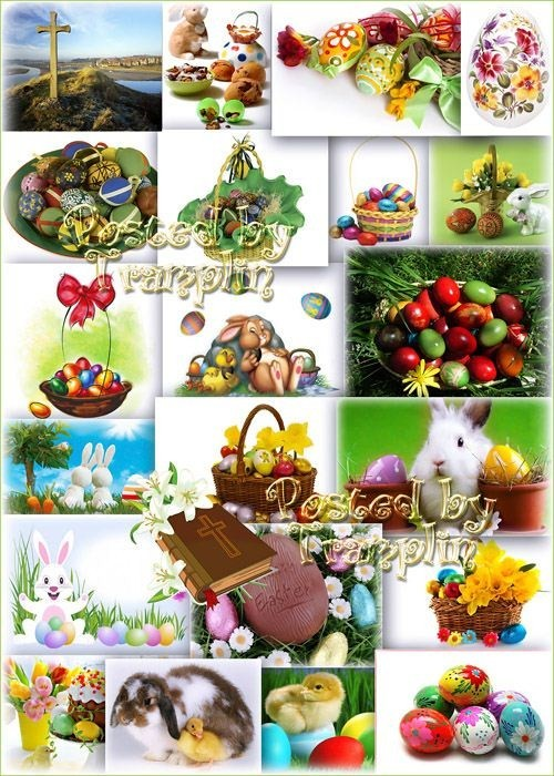 Пасхальные фоны -  В праздник вам дарю яйцо пасхальное
