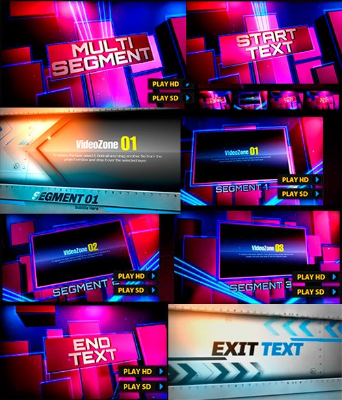 Проекты  After Effects - Footlights Fan and Next Exit