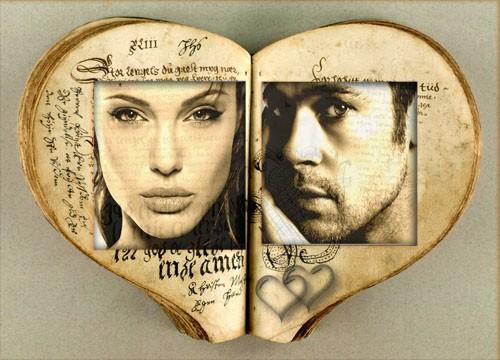 Рамка для фотошоп - Книга ваших чувств