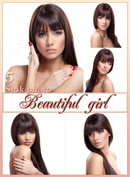 Красивая девушка, девушка с длинными волосами, прямые длинные волосы - Сток ...