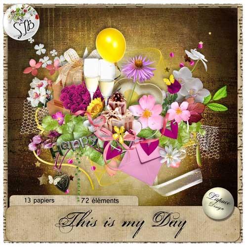 Праздничный скрап-набор - Мой день
