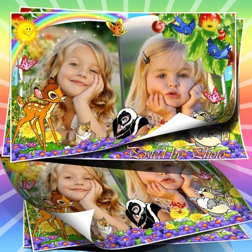 Детская рамка для фото - Бемби и друзья