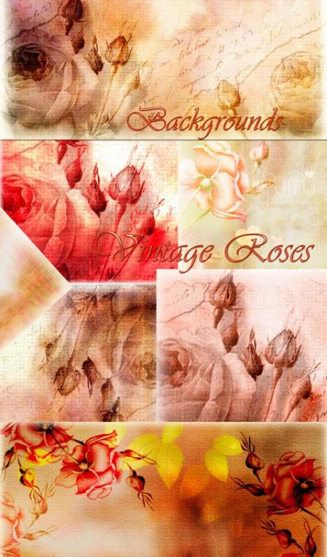 Фоны – Винтажные розы