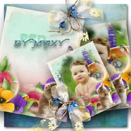 Рамка для ярких детских фотографий - Пушистый озорник