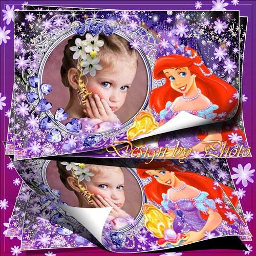 Детская рамка для фото - Русалочка Ариель