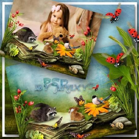 Рамка на детское фото - Волшебная книга леса