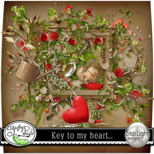 Романтический скрап-набор - Ключ от моего сердца