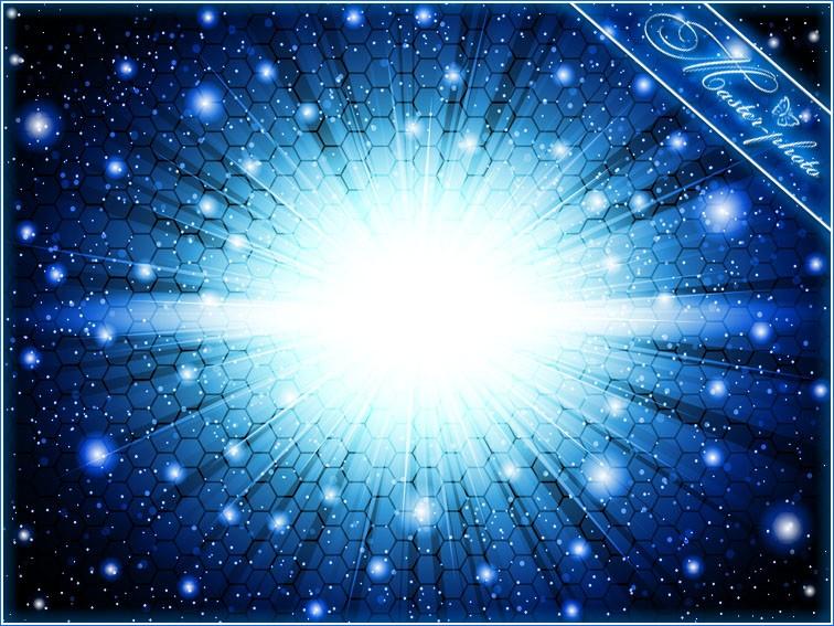 PSD исходник для фотошопа - Ночное звездное небо