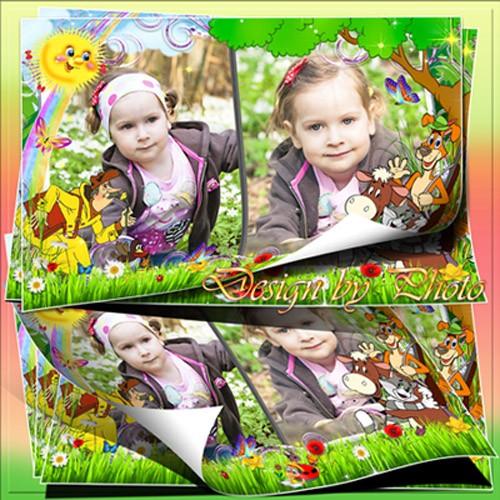 Детская рамка для фото - Каникулы в Простоквашино