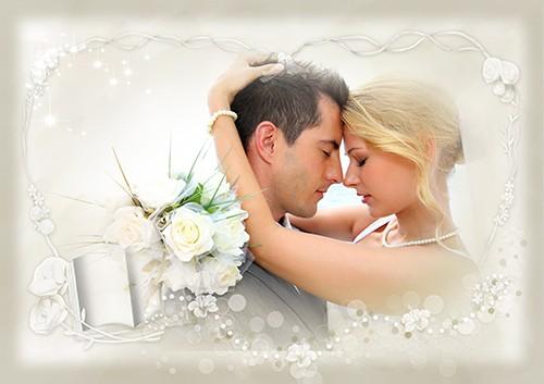 Фоторамка Белая свадебная