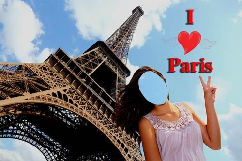 Шаблон для девушек - Волшебный Париж