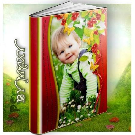 Фотокнига PSD детская - Детство пахнет цветами