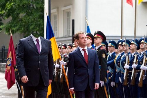 Шаблон для photoshop - Прием президента Медведева