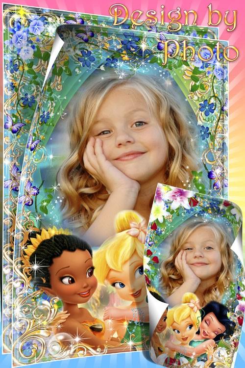 Детская фоторамка для девочек с героинями м/ф Феи