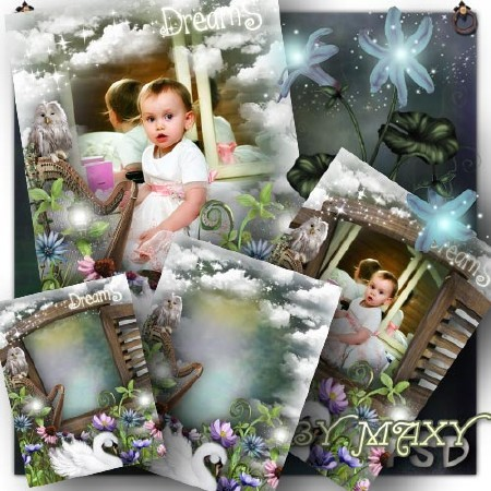 Фотошоп детская рамка - Волшебство за порогом