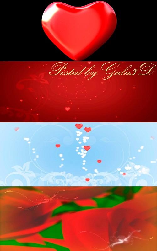 Свадебные HD футажи с сердечками